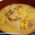 potato sausage & corn chowder