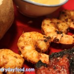 Cajun shrimp with spicy chipotle mayonnaise