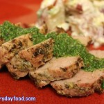 grilled pork tenderloin with garlic herb sauce