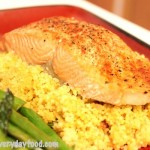 curried couscous (with a side of salmon)