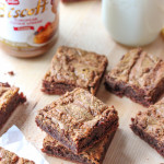 fudgy biscoff-swirled brownies